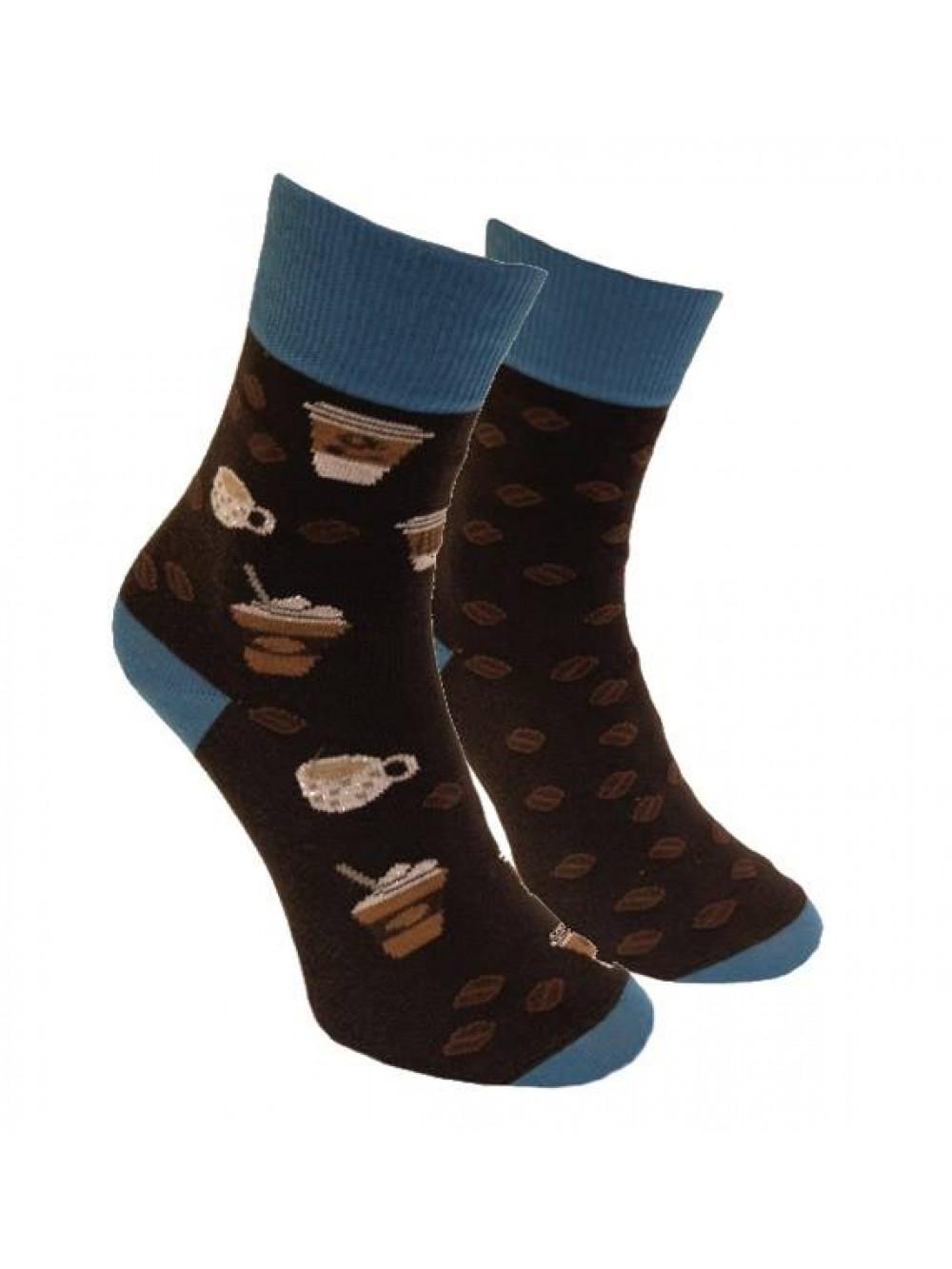 Ponožky Kávopič Foxysoxy - Tmavohnedé