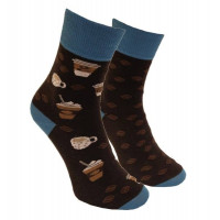 Ponožky Kávopič Tmavohnedé Foxysoxy