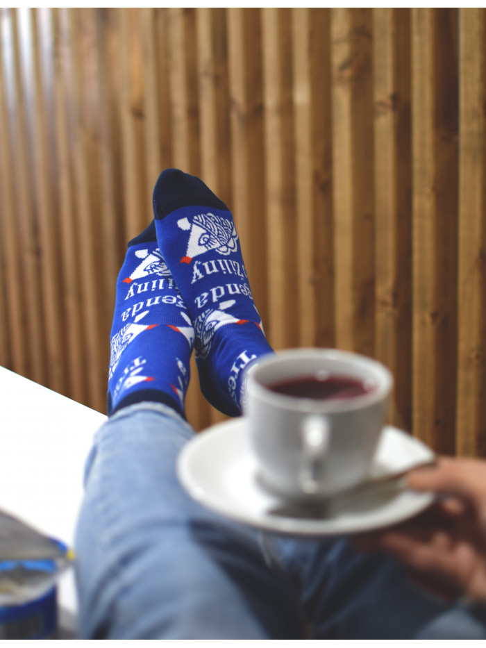 Ponožky Funnysox Treska modré