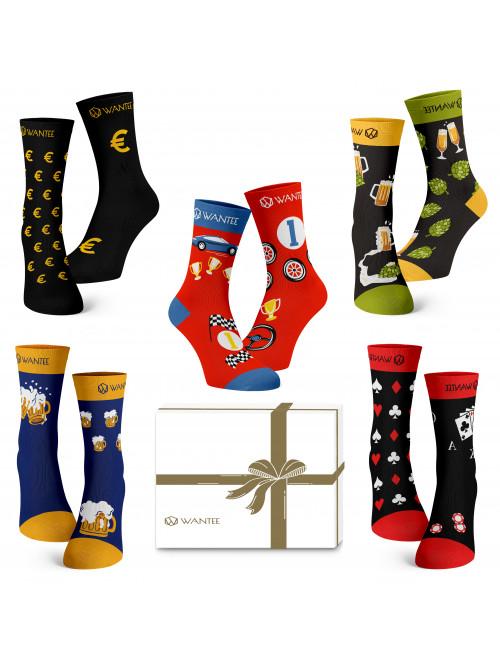 Ponožky Pánsky Klub Wantee 5-pack darčekový box