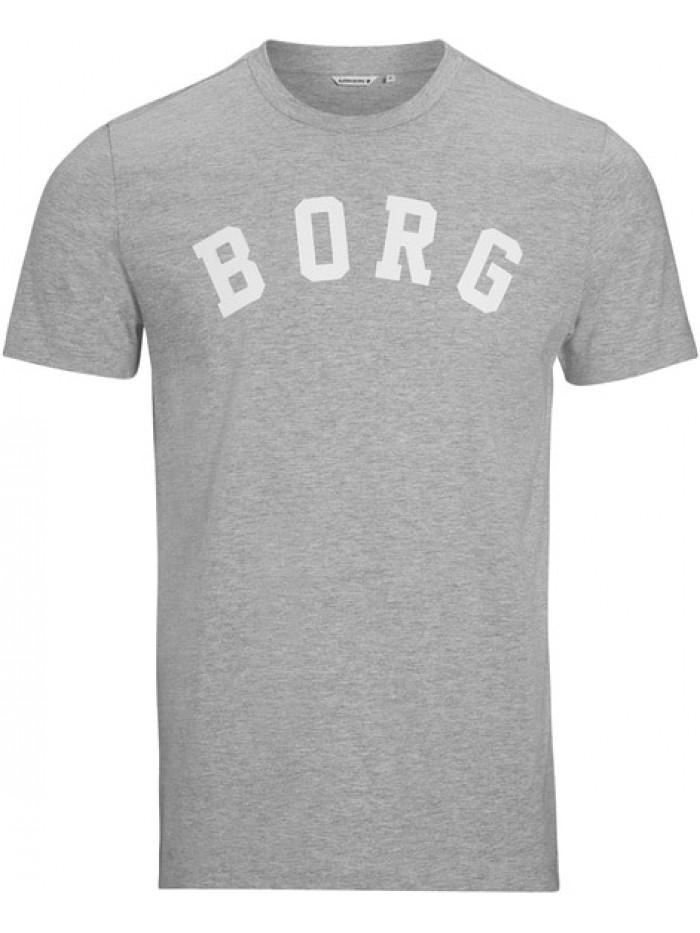 Pánske tričko Björn Borg Berny Tee Light Grey Melange sivé
