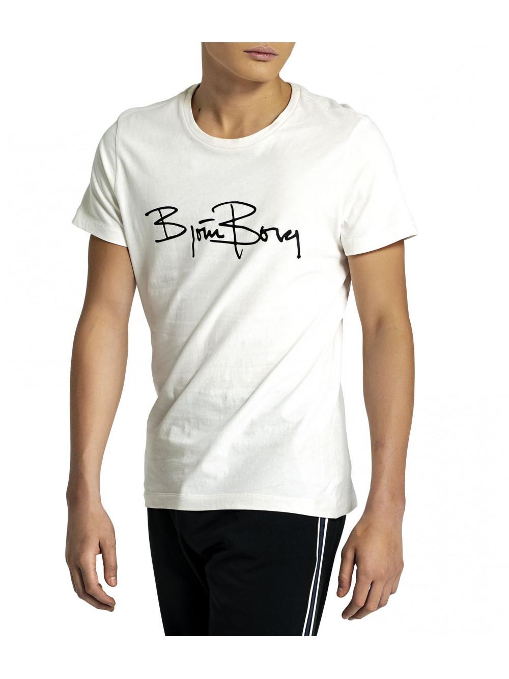Tričko Björn Borg Signature Logo Tee Jet Stream biele