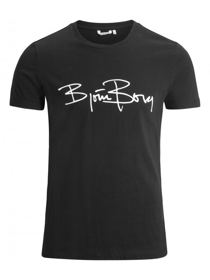 Pánske tričko Björn Borg Signature Logo Tee Black Beauty čierne