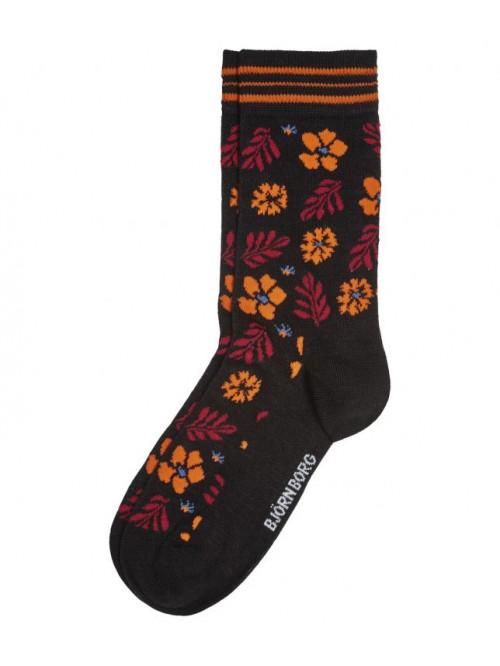Ponožky Björn Borg Bloom oranžovo-čierne
