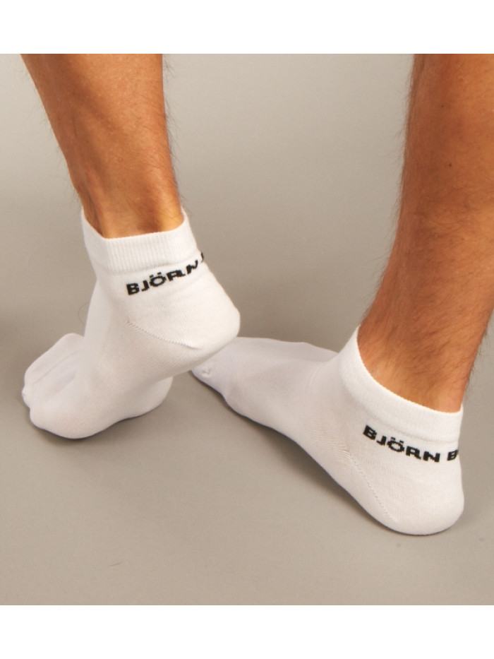 Členkové Ponožky Björn Borg Essential biele 3-pack