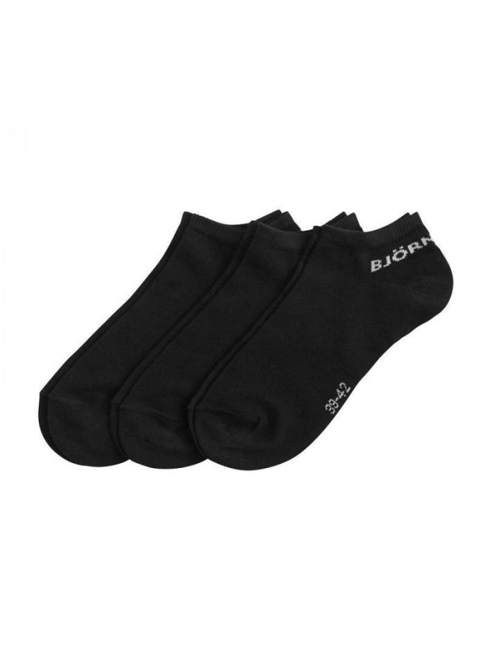 Ponožky Björn Borg Essential čierne 3-pack