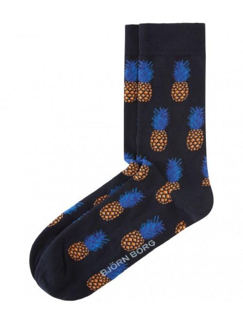 Ponožky Björn Borg La Pineapple Mini modré