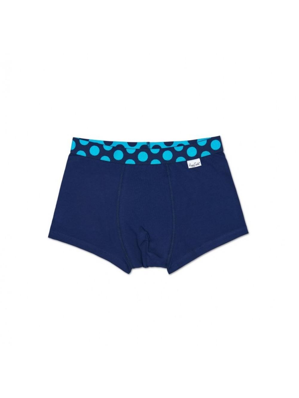 Boxerky Happy Socks Pop Color - tmavomodré
