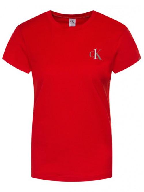 Dámske tričko Calvin Klein CK ONE SS Crew Neck červené
