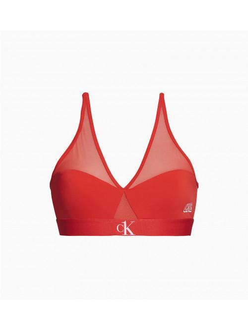 Dámska podprsenka Calvin Klein CK ONE Camo Unlined červená