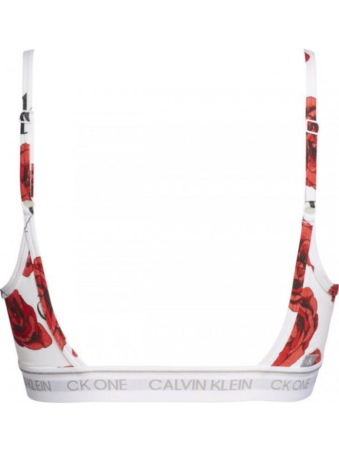Dámska športová podprsenka Calvin Klein CK ONE Unlined Bralette Charming Roses