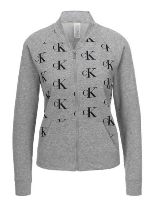Dámska mikina Calvin Klein Top Jacket sivá