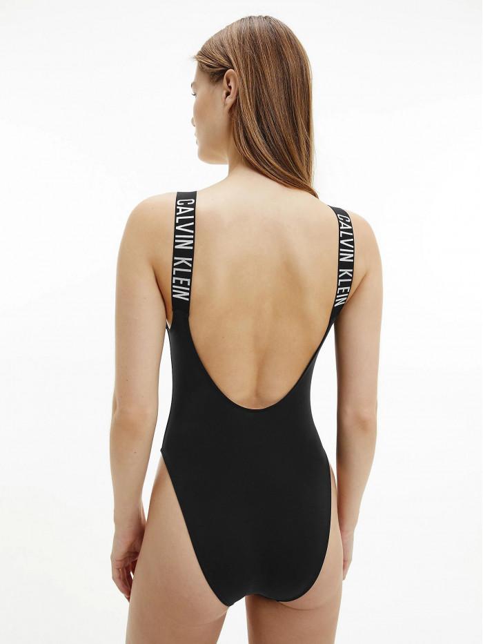 Dámske plavky Calvin Klein Scoop Neck Intense Power čierne