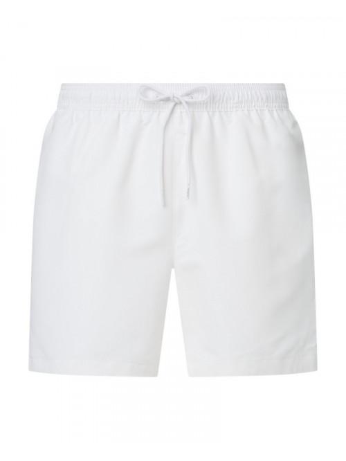 Pánske plavky Calvin Klein Medium Drawstring biele
