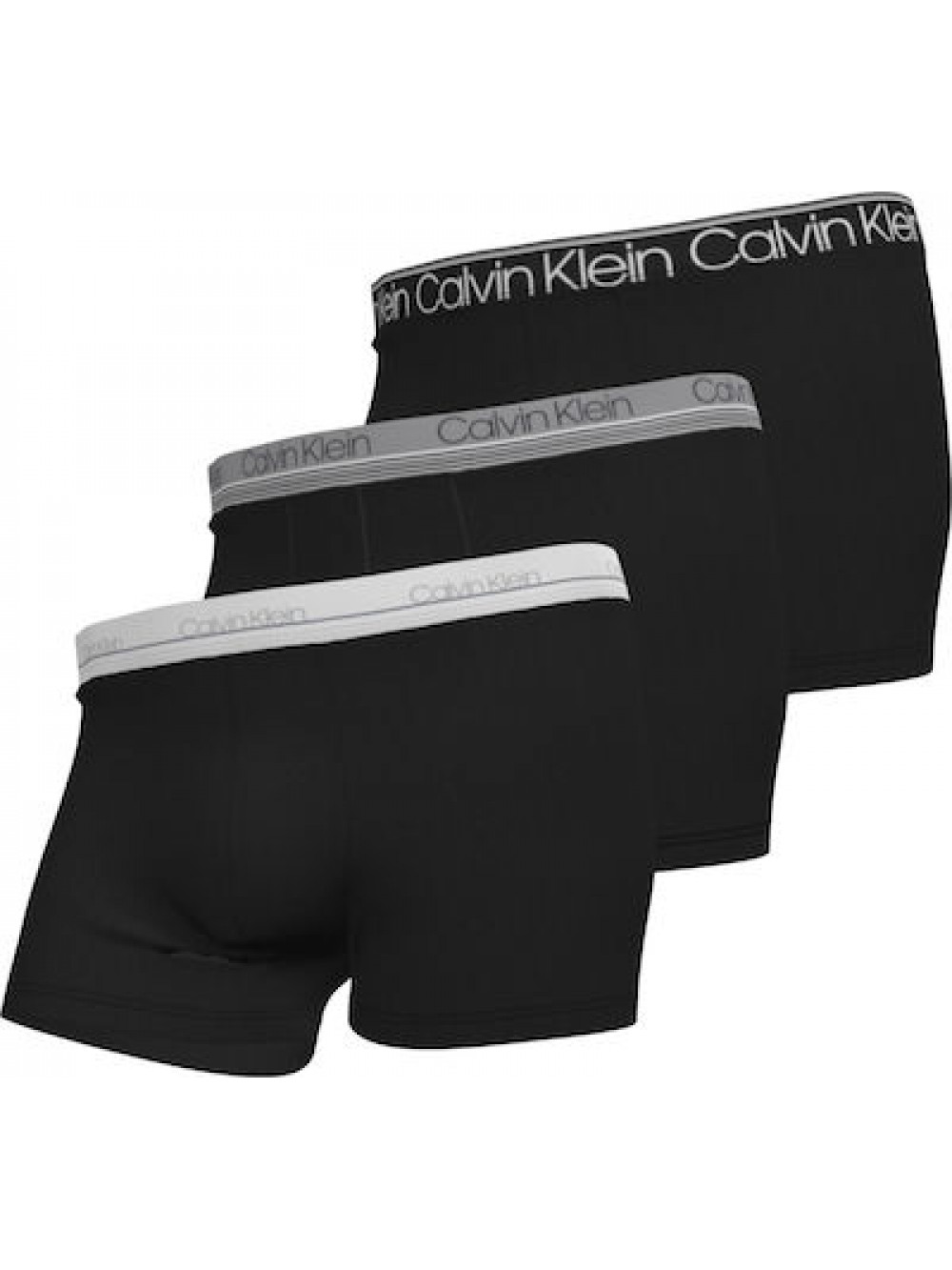 Pánske boxerky Calvin Klein Cotton Stretch Trunk 3-pack čierne