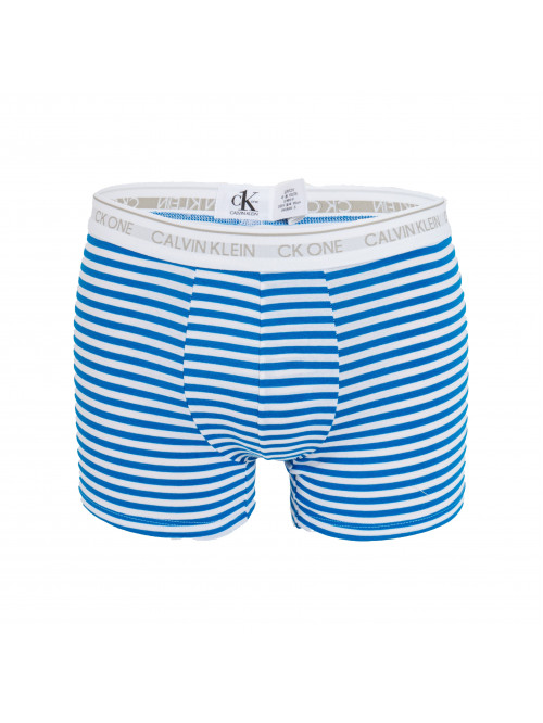 Pánske boxerky Calvin Klein CK One Stripes bielo-modré