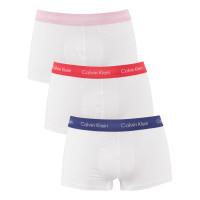 Pánske boxerky Calvin Klein Low Rise Trunk biele 3...