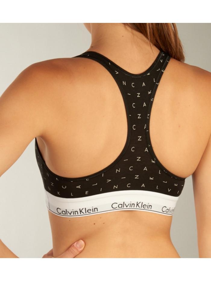 Dámska športová podprsenka Calvin Klein Bralette Boundless Logo čierna