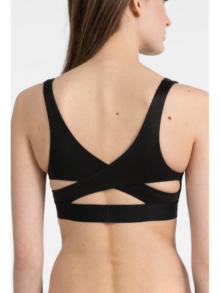 Dámska športová podprsenka Calvin Klein Light Line Bralette čierna