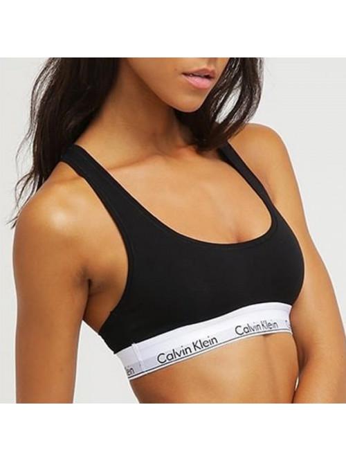 Dámska športová podprsenka Calvin Klein Cotton Bralette čierna