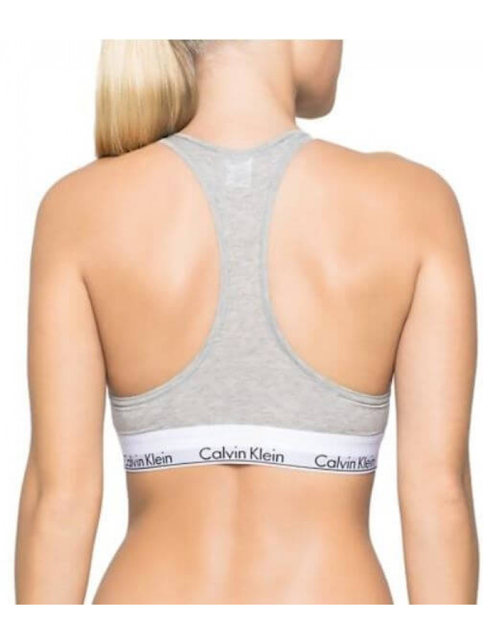 Dámska športová podprsenka Calvin Klein Cotton Bralette sivá