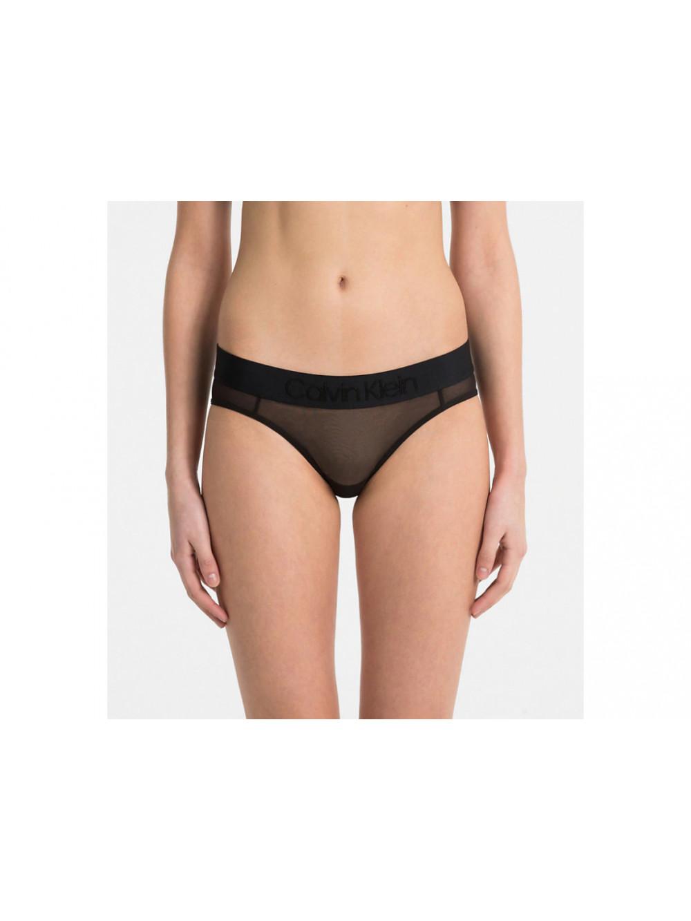 Dámske nohavičky Bikini Tonal Logo Mesh čierne