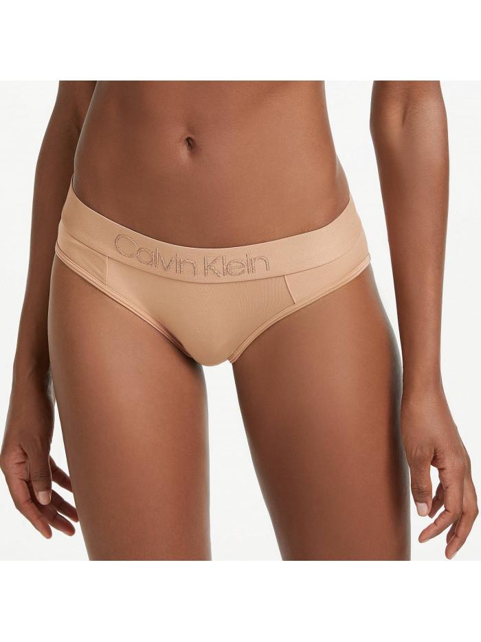 Dámske nohavičky Calvin Klein Tonal Logo Bikini béžové