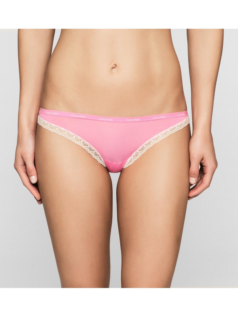 Dámske nohavičky Calvin Klein Bikini Bottoms Up Ružové