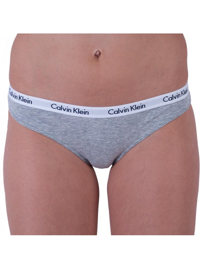 Dámske nohavičky Calvin Klein Carousel Bikini čierne, biele a sivé 3-pack