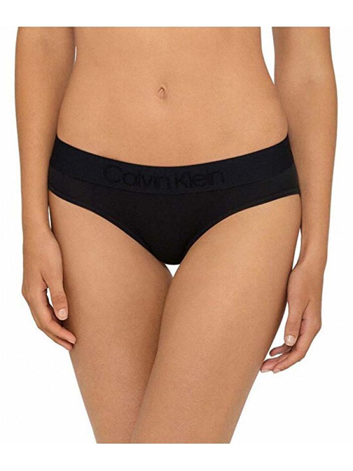 Dámske nohavičky Calvin Klein Tonal Logo Bikini čierne