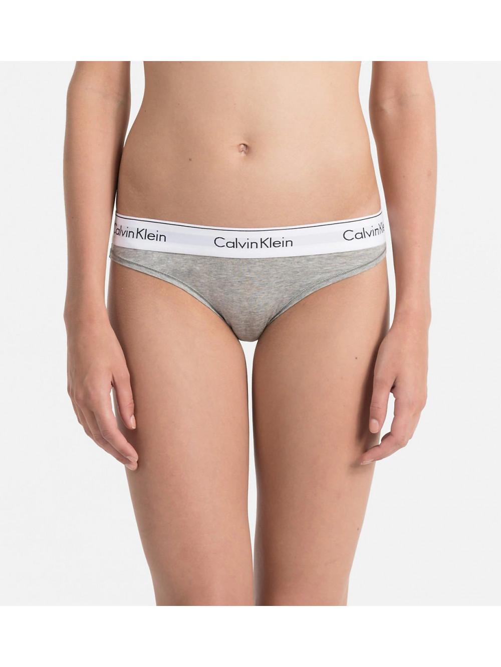 Dámske nohavičky Calvin Klein Modern Cotton Bikini sivé