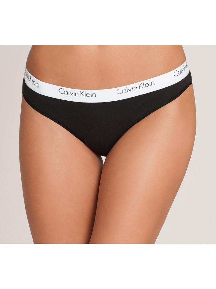 Dámske tangá Calvin Klein Carousel Thong čierne, biele 3-pack