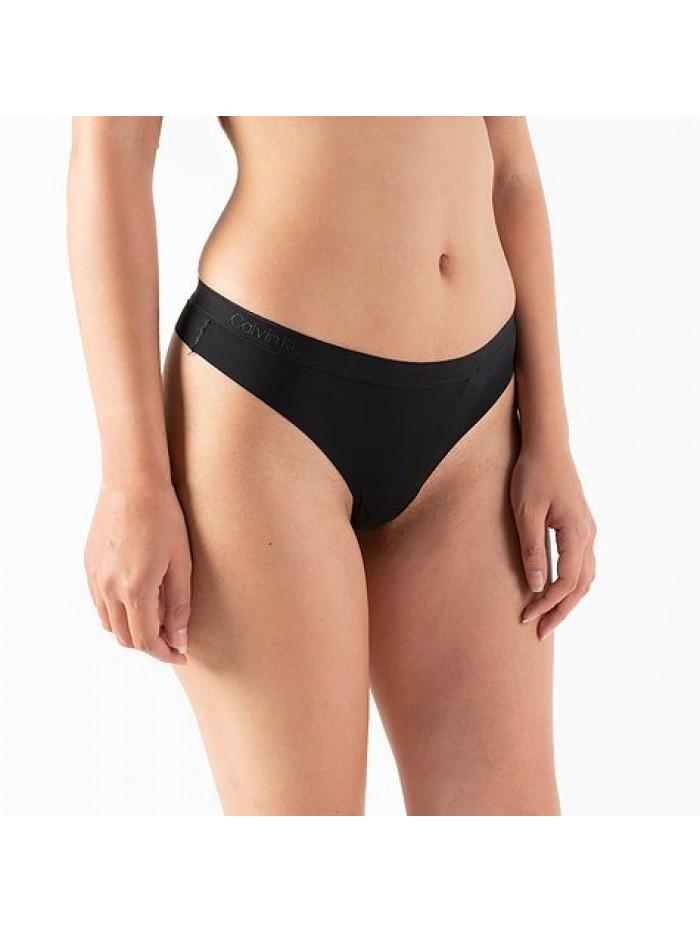 Dámske tangá Calvin Klein Women's Thong čierne 2-pack