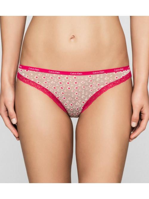 Dámske nohavičky Calvin Klein Short Hipster ružovo-hnedé