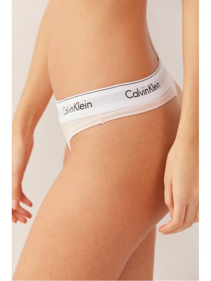 Dámske tangá Calvin Klein Modern Cotton Thong svetloružové