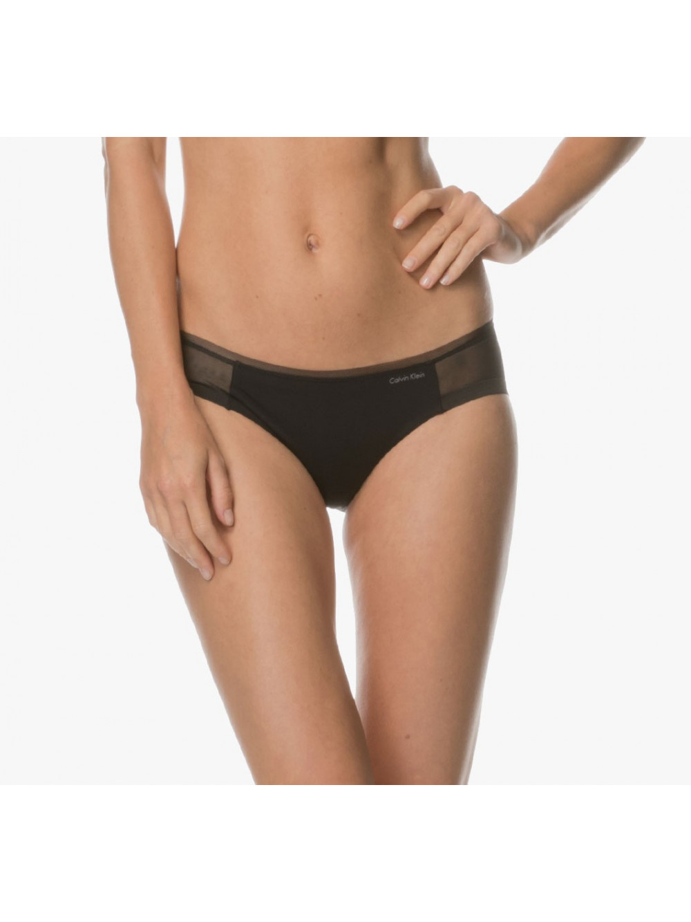 Dámske nohavičky Calvin Klein Sculpted Mesh Bikini čierne