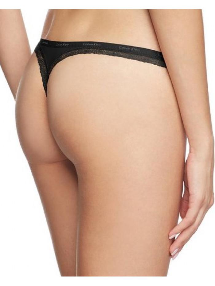 Dámske tangá Calvin Klein Bottom Up čierne