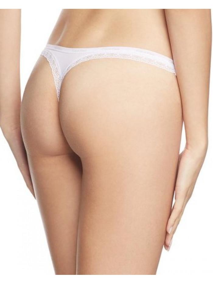 Dámske tangá Calvin Klein Bottom Up biele