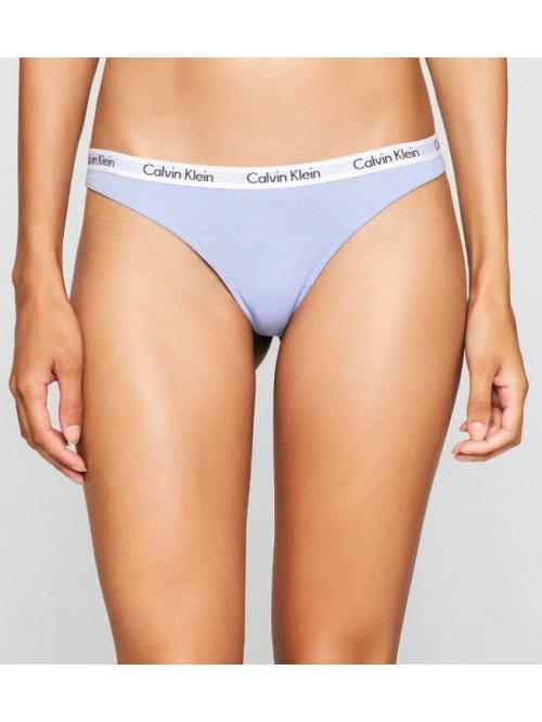 Dámske tangá Calvin Klein Carousel Thong  sivo-modré
