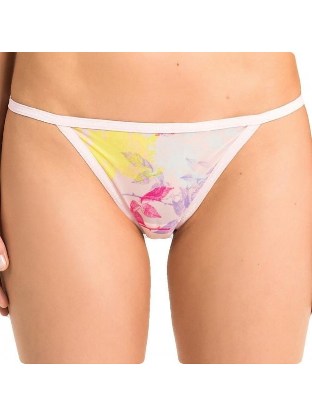 Dámske tangá Calvin Klein Transparent Floral ružové