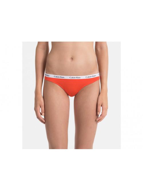 Dámske tangá Calvin Klein Carousel Thong Vibration oranžové