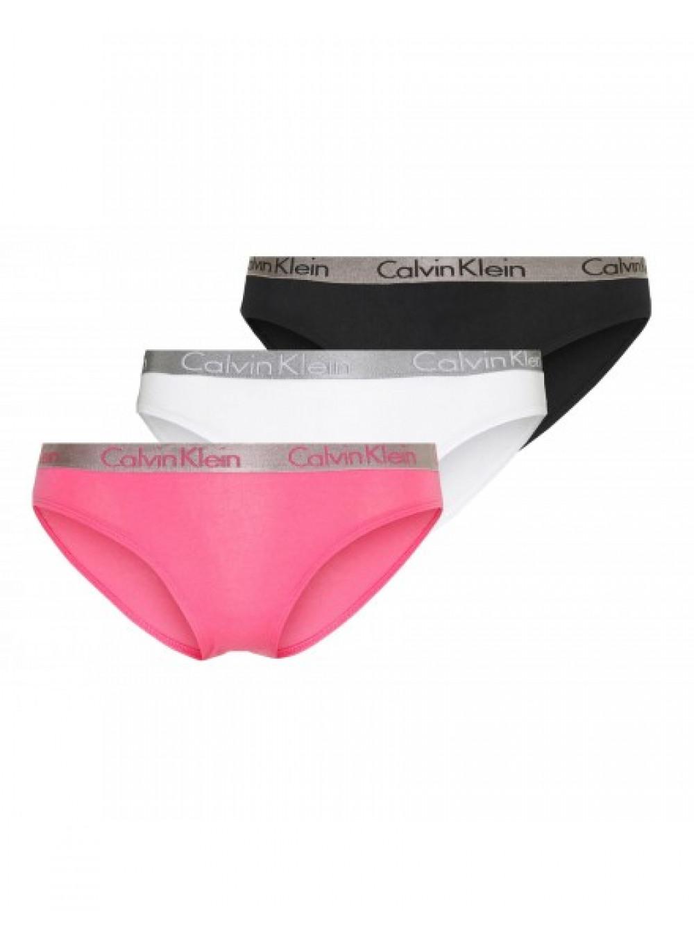 Dámske nohavičky Calvin Klein Radiant Cotton čierne, biele, ružové 3-pack