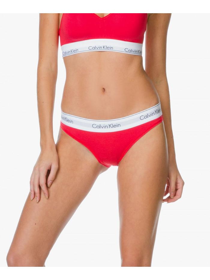Dámske nohavičky Calvin Klein Modern Cotton Bikini červené
