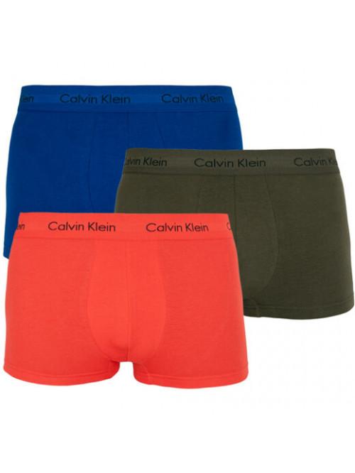 Pánske boxerky Calvin Klein Cotton Stretcg Low Rise Trunk modré, zelené, oranžové 3-pack