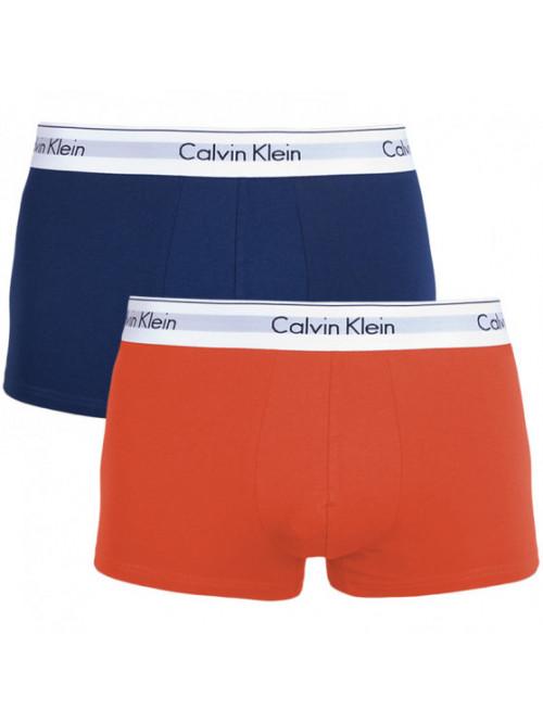 Pánske boxerky Calvin Klein Modern Cotton modré, oranžové 2-pack
