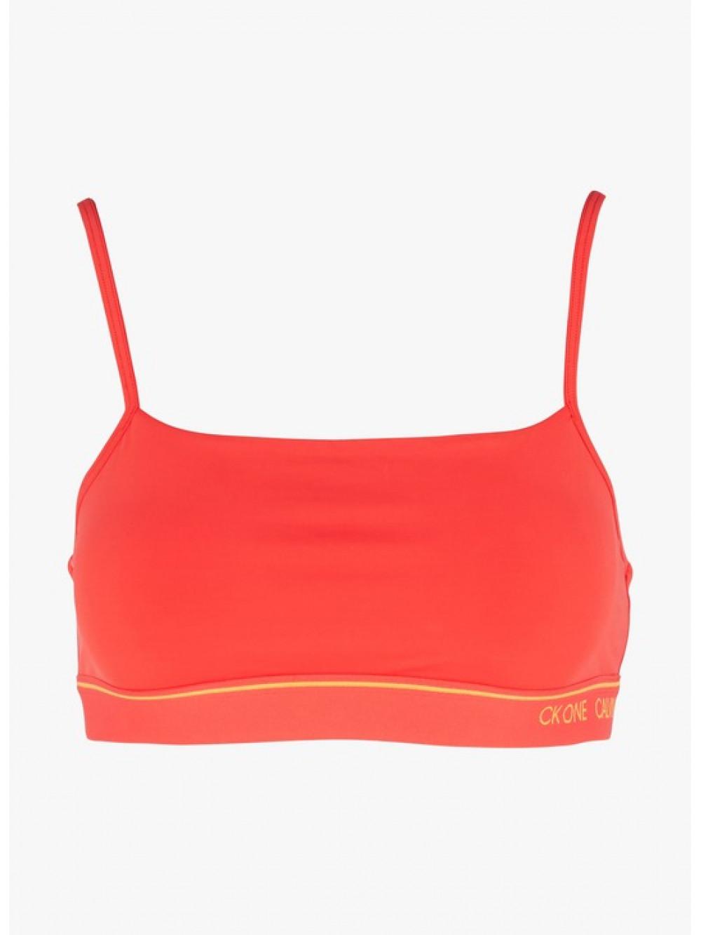 Dámska športová podprsenka Calvin Klein CK ONE Unlined Bra červená