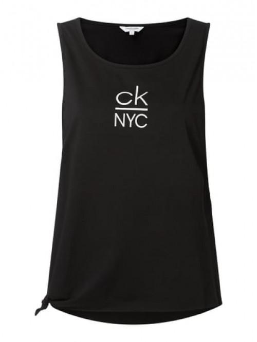 Dámske tielko Calvin Klein Side Knotted Tank čierne