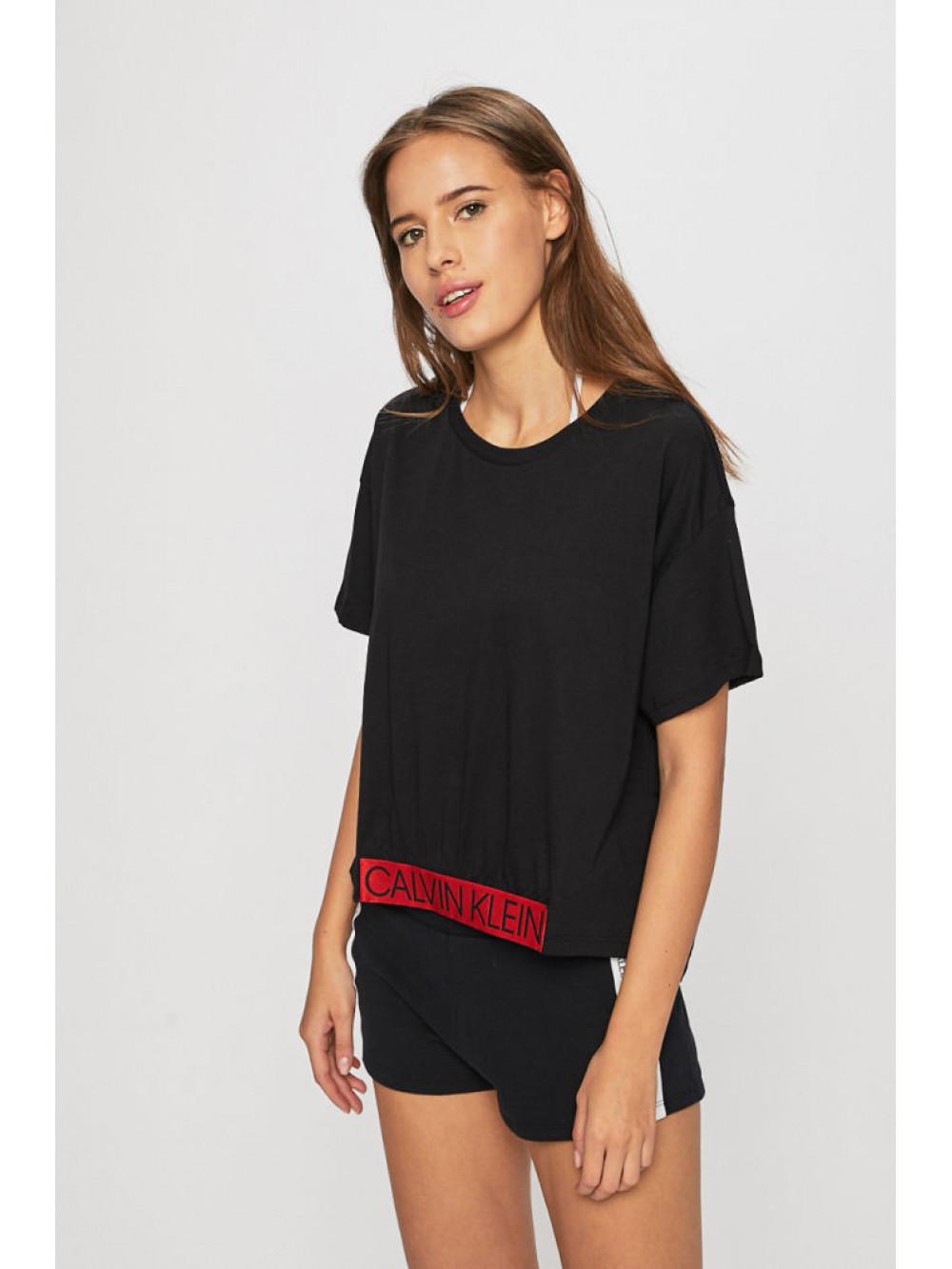 Dámske tričko Calvin Klein Cropped Tee čierne