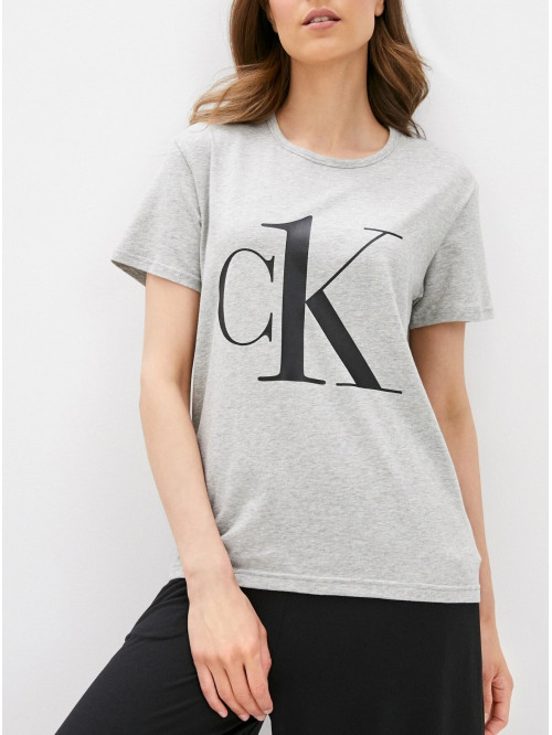 Dámske tričko Calvin Klein CK ONE Logo sivé