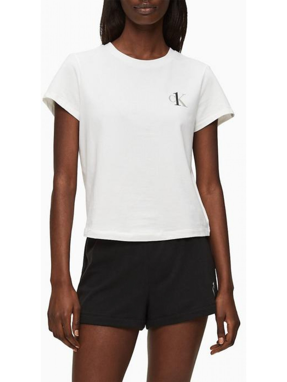 Dámske tričko Calvin Klein CK ONE SS Crew Neck biele
